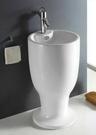 【麗室衛浴】面盆 JY132  落地式 酒杯立柱型 壁排/單孔