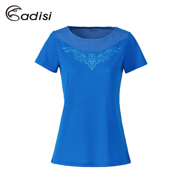 ADISI 女短袖圓領圖騰智能纖維排汗衣AL1711114 (S~2XL) / 城市綠洲專賣(輕質、透氣排汗、抗UV、乾爽)