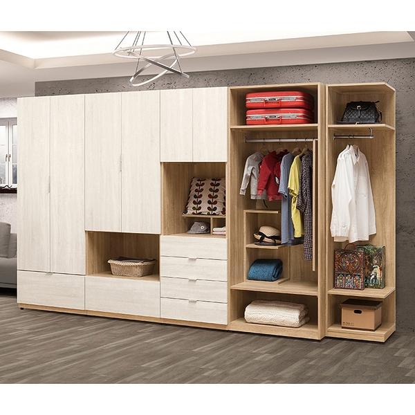 【森可家居】葛瑞絲11尺組合衣櫃(全組) 8ZX308-5 衣櫥 北歐風 系統式設計 可隨意配置