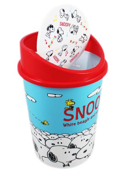 【卡漫城】 Snoopy 垃圾桶 高29cm 蓋子 藍底 ㊣版 日版 垃圾筒 置物 史努比 史奴比 糊塗塔克