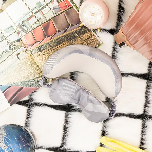 【店長超值推薦6折起】浮游漫記眼罩頸枕-灰-生活工場