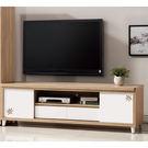 【森可家居】潔咪6尺推門電視櫃 7ZX366-4 客廳視聽櫃 長櫃 木紋質感 無印風 北歐風