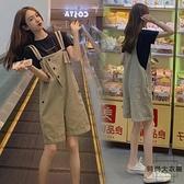 背帶短褲女韓版寬鬆夏季薄款時尚減齡牛仔五分褲【時尚大衣櫥】