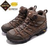 Merrell 戶外鞋 Moab 2 Smooth Mid GTX 咖啡 黑 Vibram 大底 中筒 男鞋 健行 登山鞋【ACS】 ML46553