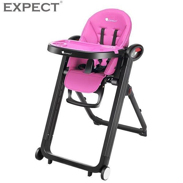 傳佳知寶 EXPECT 多功能兒童餐椅 紫紅色