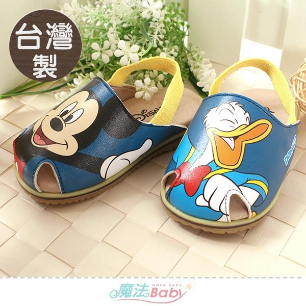幼童鞋 台灣製迪士尼米奇正版止滑手工涼鞋 魔法Baby