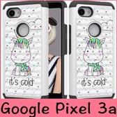 【萌萌噠】谷歌 Google Pixel 3a XL  新款二合一彩繪布藝保護殼 TPU+PC 加厚防摔 手機殼 手機殼