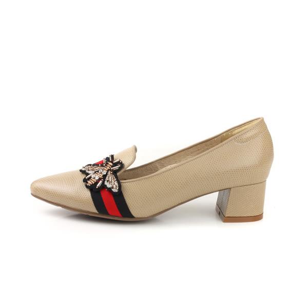HUMAN PEACE 跟鞋 低跟 粗跟 尖頭 卡其色 女鞋 050645GB no271