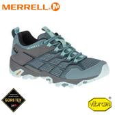 【MERRELL 美國 女 Moab Fst 2 Gore-Tex 低筒登山鞋《淺藍灰》】49180/運動鞋/慢跑/越野/防水