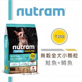 【nutram紐頓】無穀全犬小顆粒,T28鮭魚+鱒魚,加拿大製(2kg)