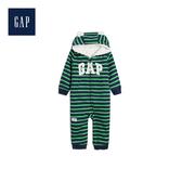 Gap男嬰兒Gap徽標小熊圖案人造羊毛絨一件式包屁衣496614-翠綠