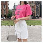 套裝 字母 刺繡 雙排釦 短裙 短袖 T恤 兩件套 套裝【NDF6511】 BOBI  06/14
