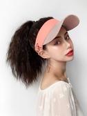 假髮帽 假發帽子一體女夏天網紅長卷發自然時尚網紅戴帶頭發的帽子潮流 美物