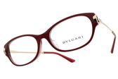 BVLGARI 光學眼鏡 BG4148BD 5342 (紅-金) 奢華圈圈設計款 平光鏡框 # 金橘眼鏡