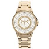 A/X Armani Exchange時尚晶鑽鋼帶女腕錶35mm(AX4321)271023
