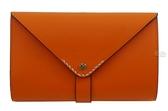 ZODENCE Flip系列雙面牛皮輕薄中夾 - 橘色 Z14H573B01K1