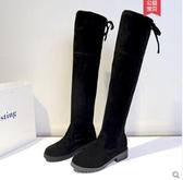 長靴女過膝女春秋平底單靴網紅瘦瘦靴顯瘦加厚加絨高筒靴 - 風尚3C
