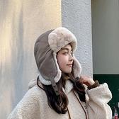 雷鋒帽男女防風防寒百搭皮加厚加絨騎車保暖帽冬季【少女顏究院】