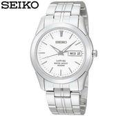 SEIKO精工 基本款星期日期顯示鋼帶男錶x藍寶石水晶鏡面・公司貨・7N43-0AR0S|名人鐘錶高雄門市