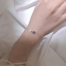 手鏈 925純銀宇宙星空深藍星球手鏈女小眾設計簡約個性學生閨蜜飾品【快速出貨八折下殺】