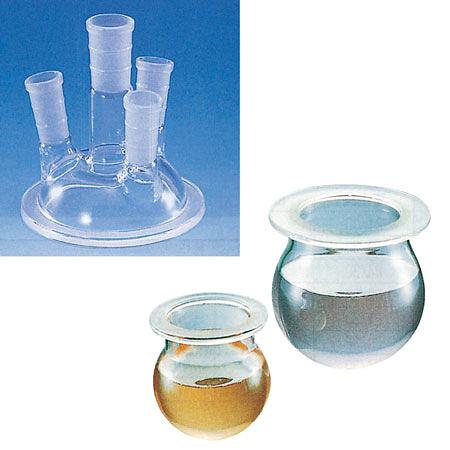 《台製》四口反應槽 圓底 Flask, Reaction, Spherical (whole set)