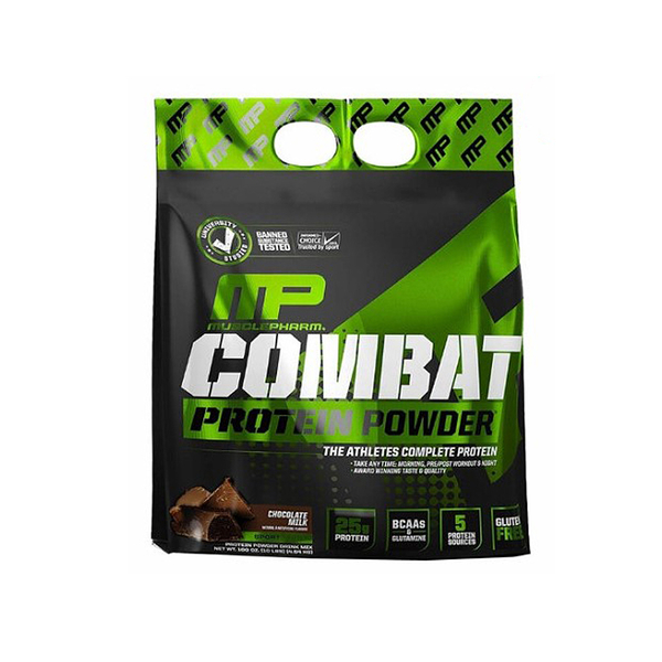 W114129 Muscle Pharm Combat 混合蛋白粉 - 巧克力牛奶 4.54公斤