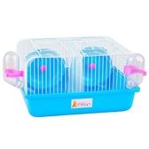 送飼養禮包小倉鼠籠子防打架隔離籠相親鐵絲窩透明手提用品