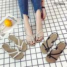 涼鞋.套趾辮子造型休閒涼鞋【K313-18】黑/白/銀
