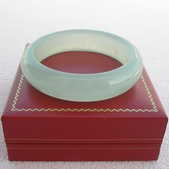 【歡喜心珠寶】【天然冰種水磨子玉手鐲】手環18.3圍,商品為仿翡翠緬甸硬玉「D貨」優化處理