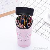 創意咖啡杯簡約筆袋 大容量多功能帆布學生鉛筆袋正韓文具 阿宅便利店