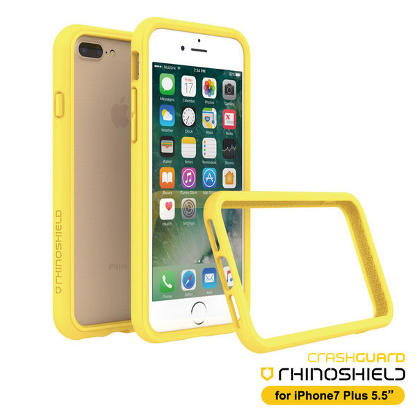 RHINO SHIELD犀牛盾 iPhone 7Plus/ 8Plus 5.5吋 科技緩衝材質耐衝擊邊框殼-黃