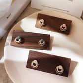 耳環 甜美 雙層 圓形 珍珠 鏤空 幾何 氣質 耳釘 耳環【DD1903085】 ENTER  05/09