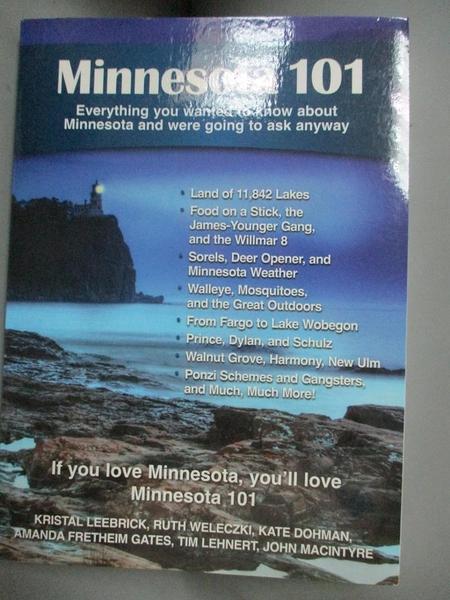 【書寶二手書T9/地理_HBR】Minnesota 101: Everything You Wanted to Know