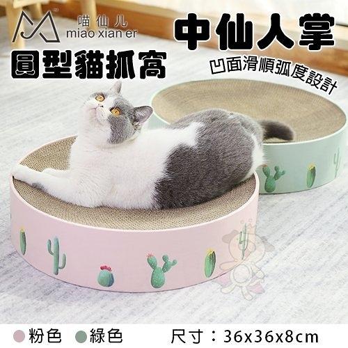 *KING*FD.Cattery 圓型貓抓窩-仙人掌(中)‧凹面滑順弧度設計 休息更舒適‧貓抓板