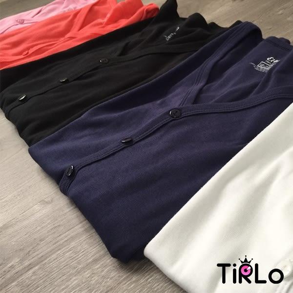 棉質小外套-Tirlo-前釦純棉多色小外套-五色【現貨】