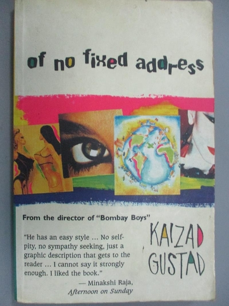 【書寶二手書T9/原文小說_HII】Of No Fixed Address_Kaizad Gustad