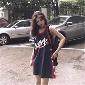 無袖t恤背心女夏外穿韓版寬鬆打底籃球服bf風中長款泫雅吊帶上衣 【ifashion·全店免運】