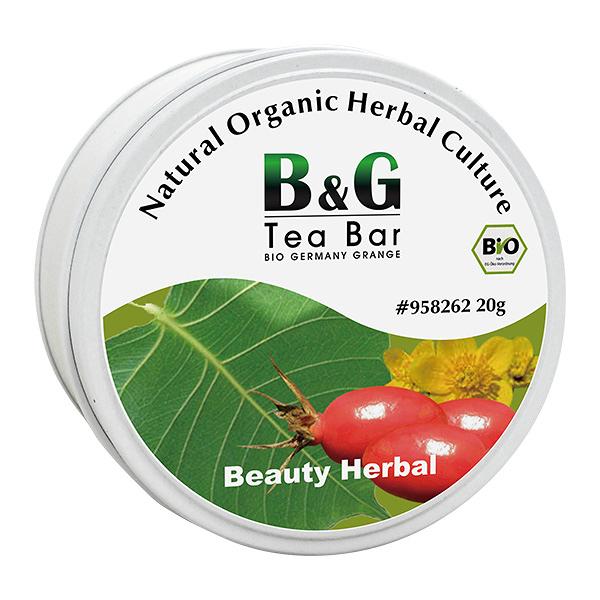 【德國農莊 B&G Tea Bar】 有機窈窕美顏養生花茶 圓鐵罐(50g)