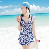 連身泳衣-夏艷海灘渡假時尚羽毛泳裝2色73mc35[時尚巴黎]