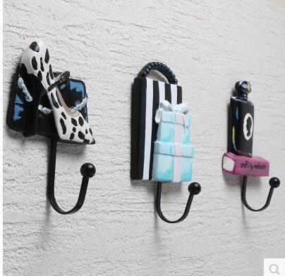 創意服裝店壁掛牆上試衣間掛鉤美式複古客廳玄關臥室裝飾品掛衣鉤