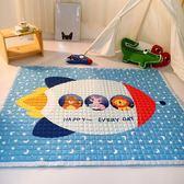 寶寶爬行墊加厚嬰兒爬爬墊防滑布質兒童地墊客廳家用無味游戲毯墊【韓衣舍】