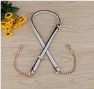 包包鍊條 可調節鍊條配件肩帶鍊條帶側背包帶鍊子斜背包包鍊條單買金屬鍊窄 晶彩