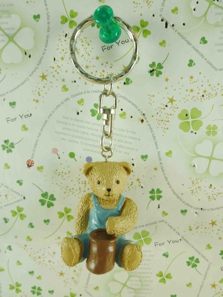 【震撼精品百貨】泰迪熊_Teddy Bear~鑰匙圈-坐姿-藍色