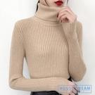 毛衣女 高領加厚毛衣女黑色針織打底衫2019秋冬新款洋氣長袖內搭上衣