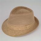 紳士帽 禮帽男士中老年夏天防曬遮陽帽亞麻透氣涼帽沙灘英倫禮帽鏤空帽子 薇薇