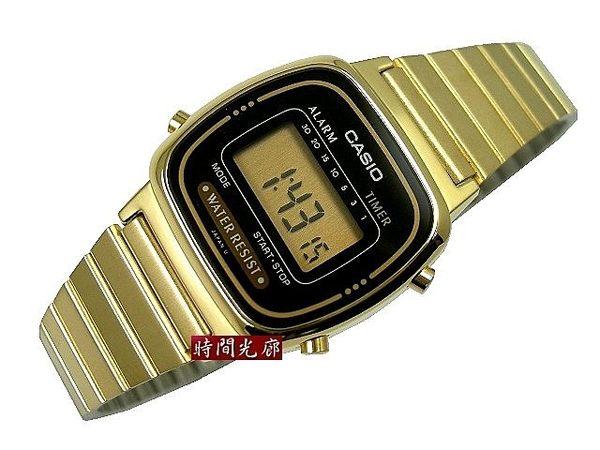 【時間光廊】CASIO 卡西歐 黑/金 碼錶/倒數計時/鬧鈴 全新原廠公司貨 LA670WD LA670WGA-1DF