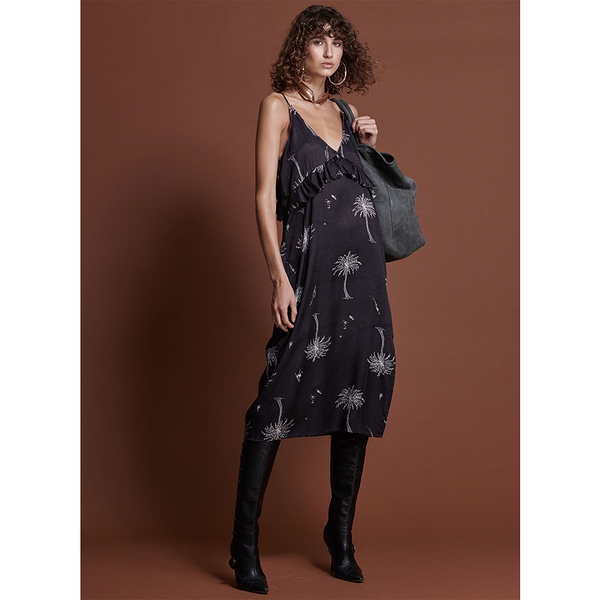 ONETEASPOON  W  THE VALLEY RUFFLE DRESS  洋裝-女(黑)
