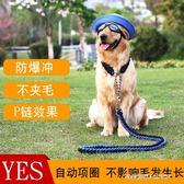 中型大型犬狗狗金毛拉布拉多遛狗繩子項圈狗錬子P錬牽引繩帶用品    時尚潮流