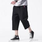 七分褲 2021春季新無影墻日系大碼男原創純色七分褲休閒褲M-5X K258-P40