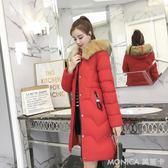 2018冬季新款韓版百搭羽絨服女 寬鬆大碼中長款棉服 潮 莫妮卡小屋